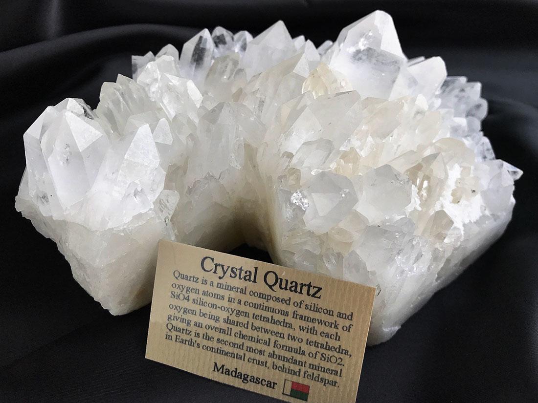 水晶クラスター(キャンドル)