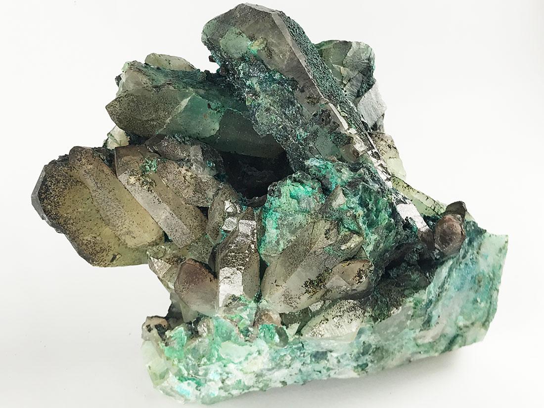 ペルー産クリソコラ&水晶