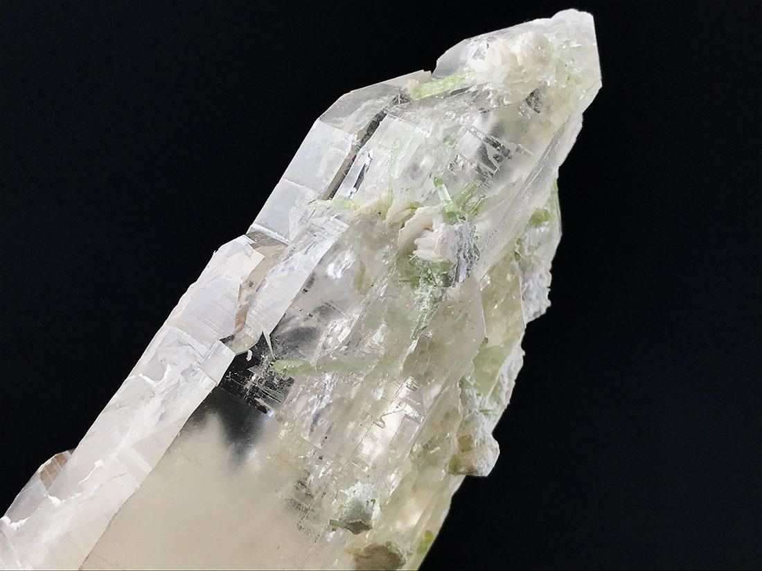 パキスタン産カテドラル水晶(トルマリン共生)