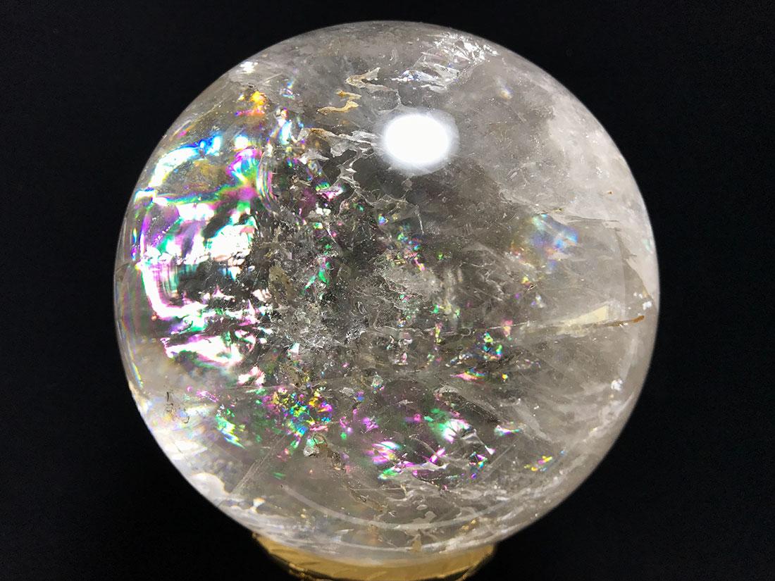 レインボー水晶90mm丸玉